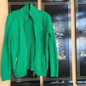 Ralph Lauren Cotton Cable Knit Sweater L
